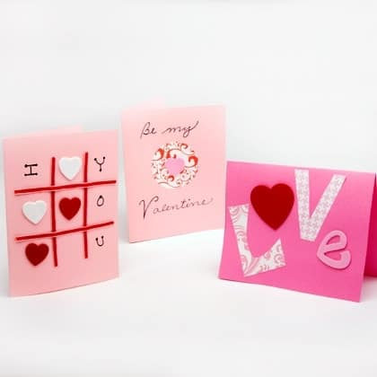 28 Valentines Day Crafts for Kids Crafts by Amanda – Homemade Valentine Card