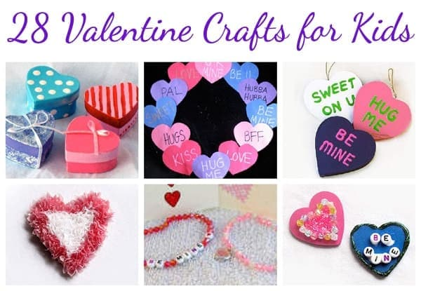 28 Valentine's Day Crafts for Kids by Amanda Formaro craftsbyamanda.com @amandaformaro