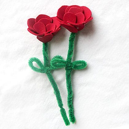 Valentine's Day Craft Foam Roses