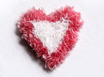 Valentine's Day crafts for kids - Puffy Tissue Paper Heart