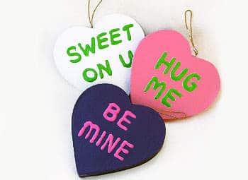Valentine Heart Package Tie Ons