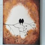 Beautiful Birds on a Branch Silhouette Painting using acrylic paint! @amandaformaro CraftsbyAmanda.com