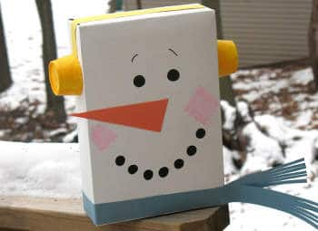 Cereal Box Snowman by Amanda Formaro