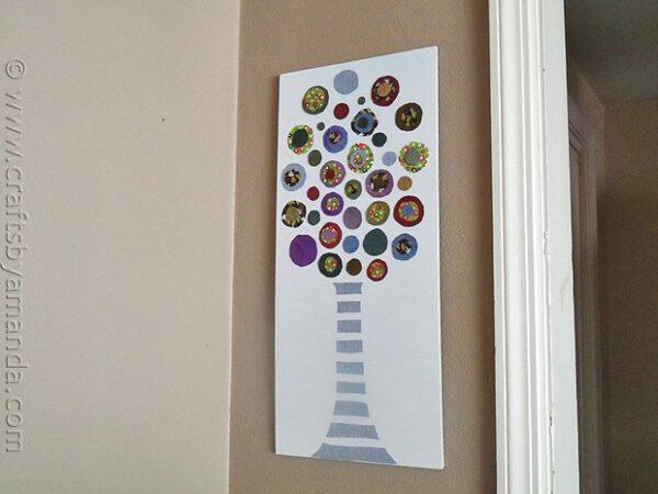 Colored Denim Circle Tree - CraftsbyAmanda.com