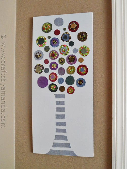 Colored Denim Circle Tree - CraftsbyAmanda.com