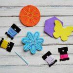Make your own Craft Foam Sewing Cards! CraftsbyAmanda.com @amandaformaro