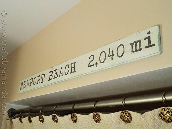 How to make a Weathered Newport Beach Sign from CraftsbyAmanda.com @amandaformaro