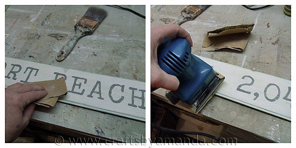 How to make a Weathered Newport Beach Sign from CraftsbyAmanda.com @amandaformaro