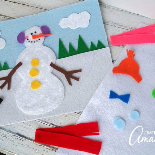 Who doesn't love cute snowman crafts?