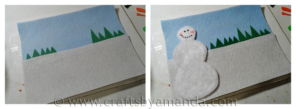 Make a snowman felt board - CraftsbyAmanda.com
