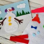 Snowman craft - Snowman Felt Board by Amanda Formaro CraftsbyAmanda.com