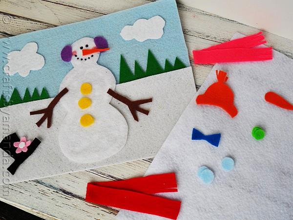 Snowman crafts - Snowman Felt Board by Amanda Formaro CraftsbyAmanda.com