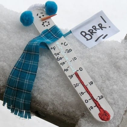 Snowman Thermometer snowman crafts by Amanda Formaro