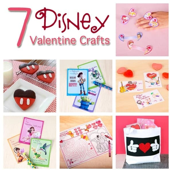 7 Disney Valentine Crafts and Printables
