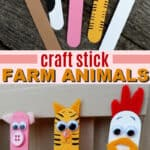 craft stick farm animals pin image