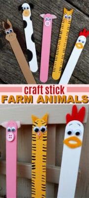 craft stick farm animals pin image