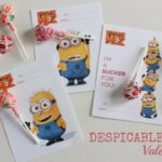 Despicable Me Crafts and Free Valentine Printable!