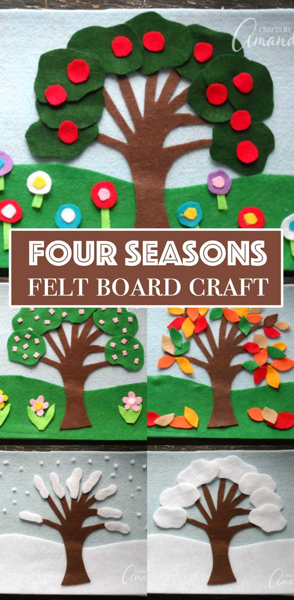 Felt Board Craft 4 Seasons Felt Board Craft Great For Kids