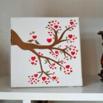 Love Birds in a Heart Tree