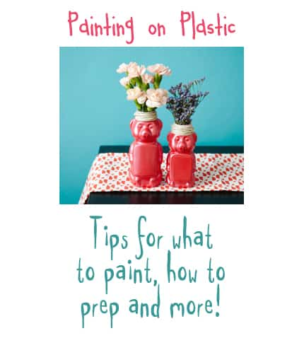 Tips for Painting on Plastic by CraftsbyAmanda.com @amandaformaro