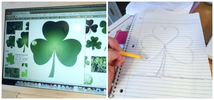 Steps for making a Shamrock Tree: Collage
