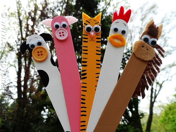 farm animals made from craft sticks
