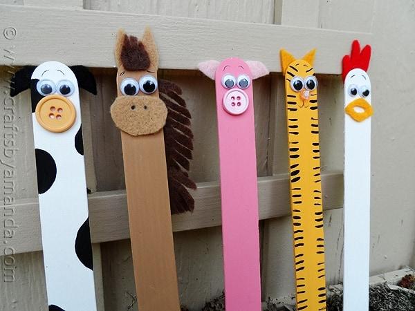 Craft Stick Farm Animals – Basteln für Kinder