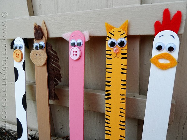 Craft stick crafts barnyard farm animals for Popsicle sticks arts and crafts ideas