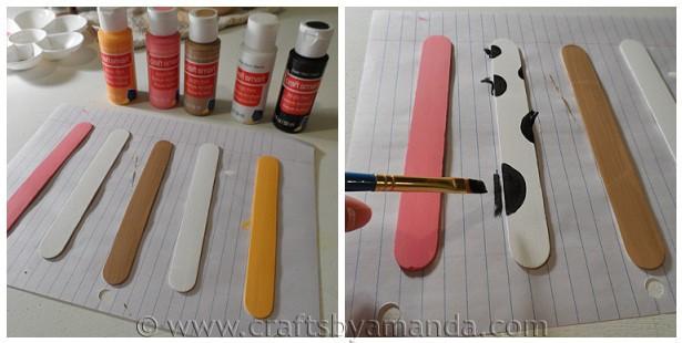 paint the craft sticks