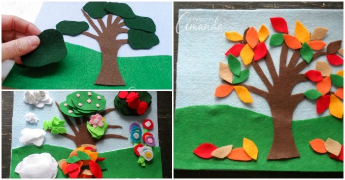Super fun Four Seasons Felt Board Craft!