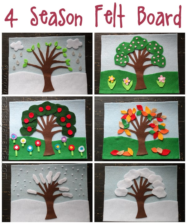seasons craft ideas felt board craft 4 seasons felt board 2899