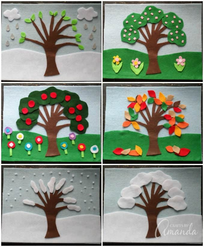 This felt board craft can be used any time of the year, not just for holidays.