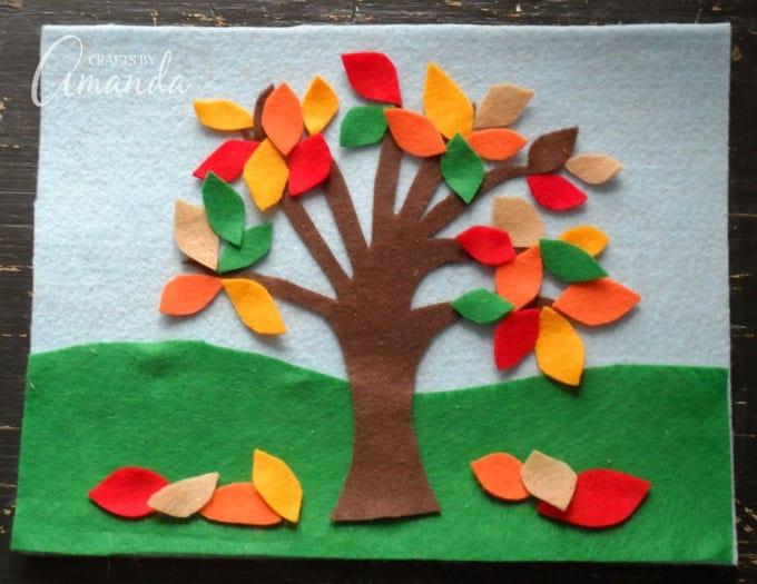 Felt Board Craft: 4 Seasons Felt Board Craft, great for kids!