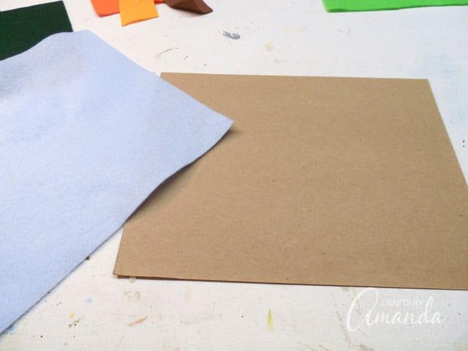 Felt Board Craft Step 1