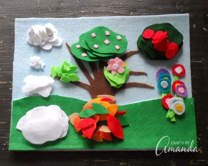 Four Seasons Felt Board Craft, great for all year round!