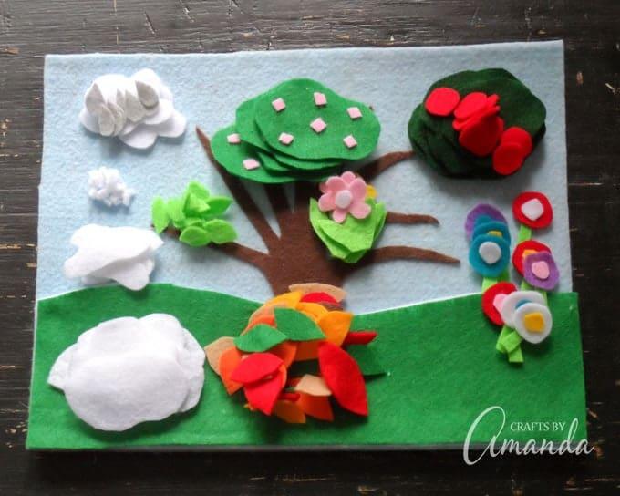 Four Seasons Felt Board Craft, great for all year round!