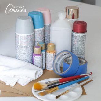 plastic painting supplies