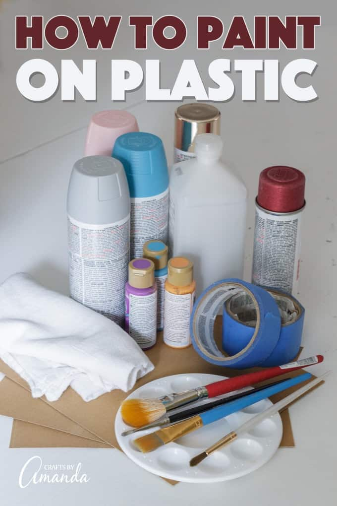 painting on plastic supplies