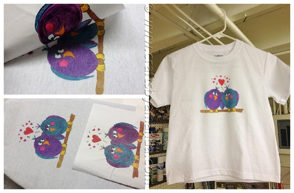 Iron On Love Birds Shirt (Ink Effects) by CraftsbyAmanda.com @amandaformaro