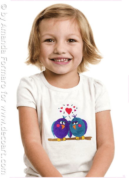 Iron On Love Birds Shirt (Ink Effects) by CraftsbyAmanda.com @amandaformaro