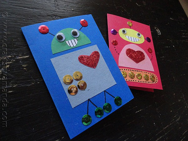 Robot Valentines Easy kids craft for Valentines Day – Valentine Cards to Make at Home