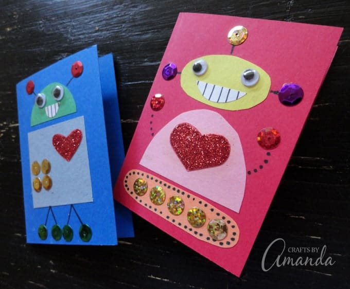 Adorable Robot Valentines for boys or girls!