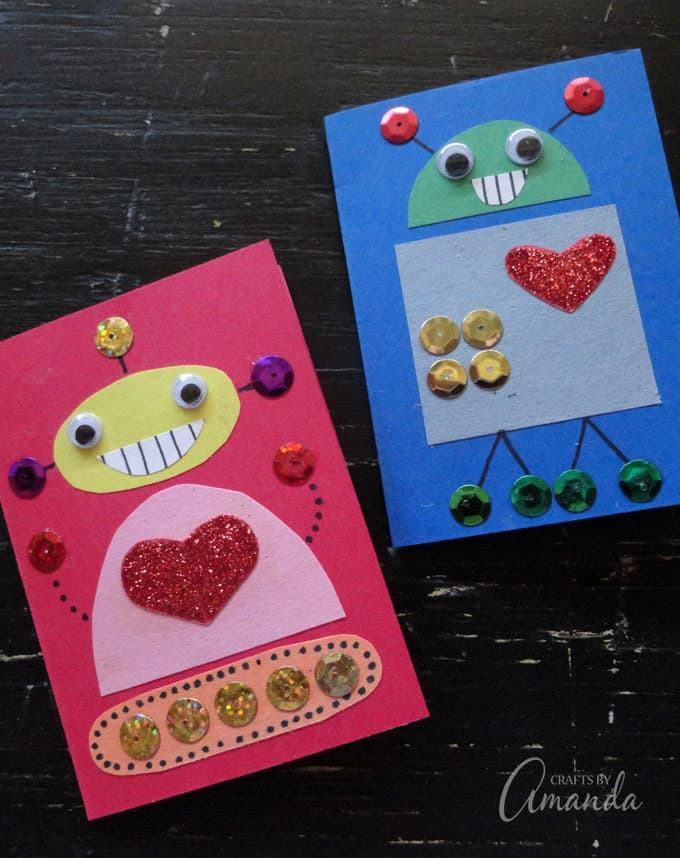 Robot Valentines for boys and girls