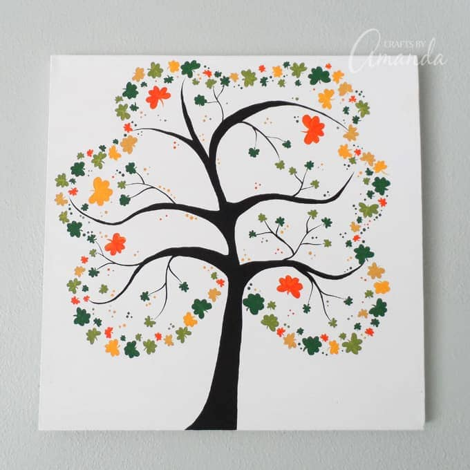 Shamrock Crafts: Shamrock Tree On Canvas