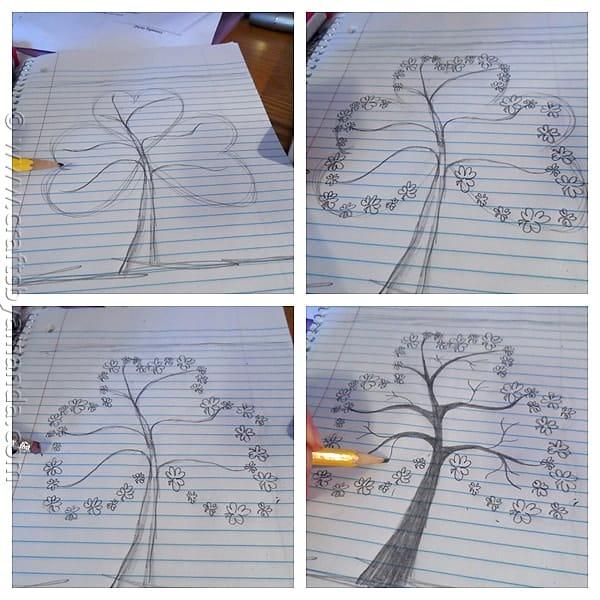 Shamrock Crafts: Shamrock Tree on Canvas by CraftsbyAmanda.com @amandaformaro