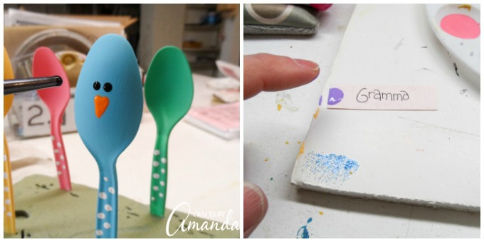 Plastic Spoon Chicks for Easter step 11 and 12