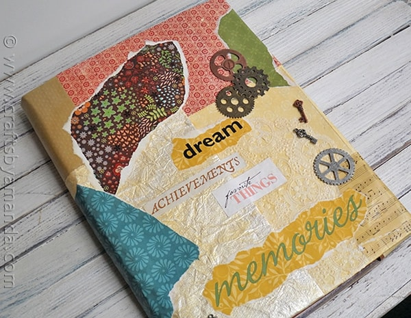 Book Cover Making Ideas ~ Book cover craft faux vinyl with mod podge