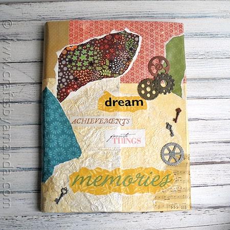 Tutorial - Book Cover Craft: Faux Vinyl with Mod Podge via CraftsbyAmanda.com @amandaformaro