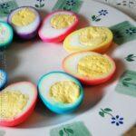 Beautiful rainbow ringed Colored Easter Eggs by CraftsbyAmanda.com @amandaformaro