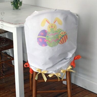 Easter Egg and Bunny Chair Cover from CraftsbyAmanda.com @amandaformaro